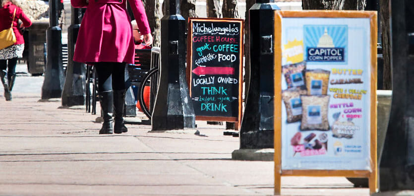 Sidewalk Signs: Types And Applications